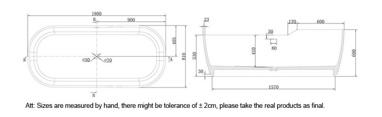 Bellissimo-Professional Stone Soaking Tub Free Standing Bathtub Manufacture-3