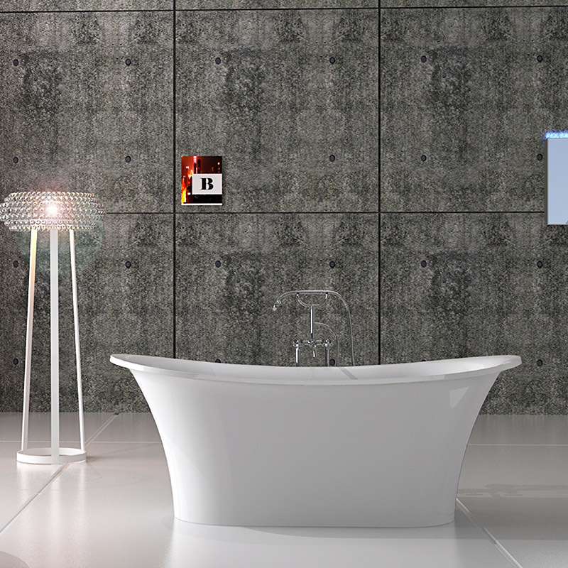 Solid surface resin stone bathtub BS-8627