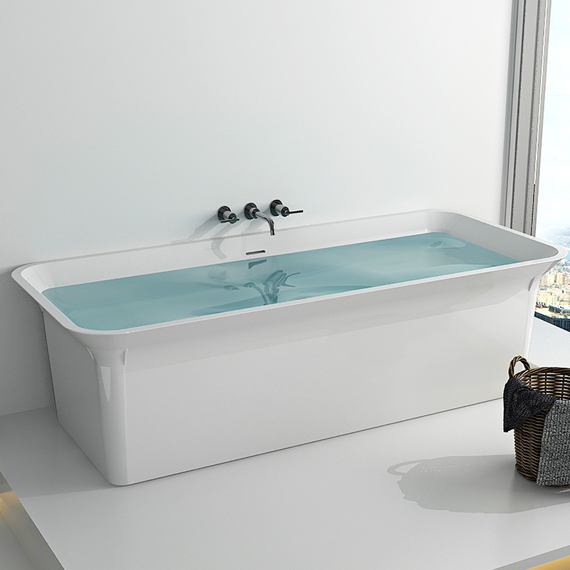 Solid surface resin stone bathtub BS-8630