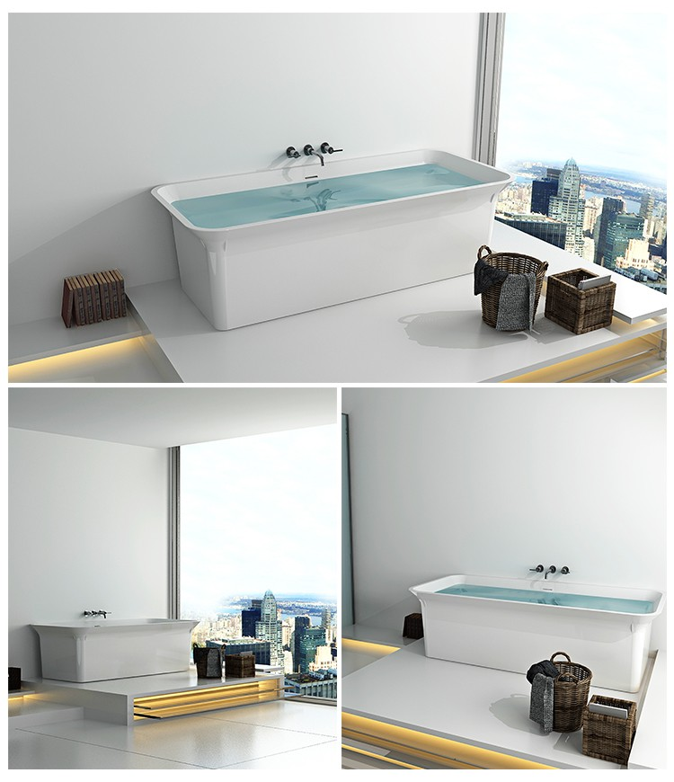 Bellissimo-Best Solid Surface Resin Stone Bathtub Bs-8630 Manufacture-2