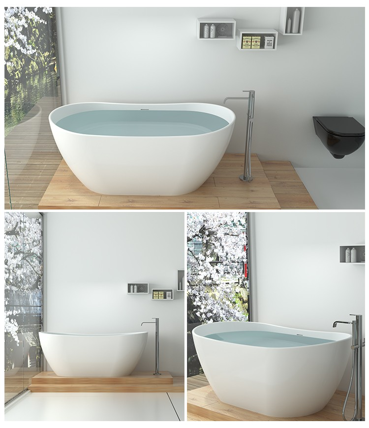 Bellissimo-Solid Surface Resin Stone Bathtub Bs-8633 | Solid Surface Bathtub-2