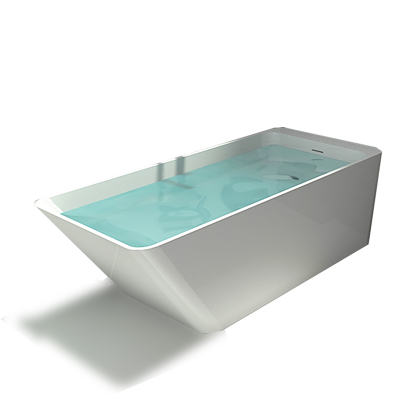 Solid surface resin stone bathtub BS-8634