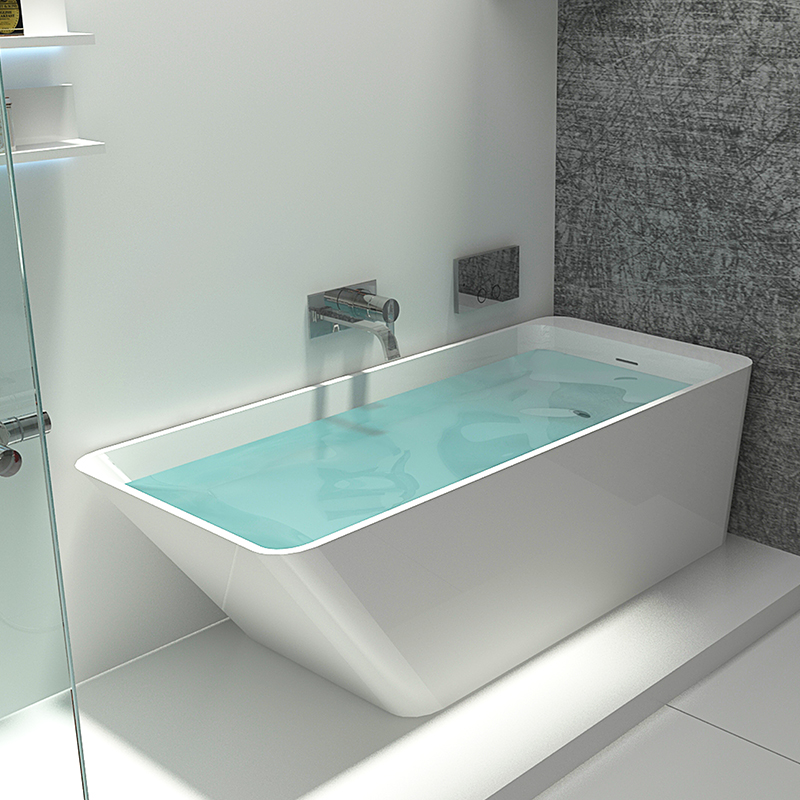 Bellissimo-Stone Bathtub Solid Surface Resin Stone Bathtub Bs-8634