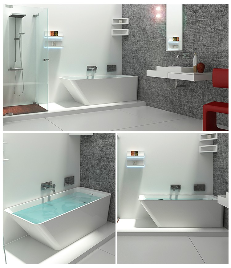 Bellissimo-High-quality Solid Surface Resin Stone Bathtub Bs-8634 Factory-2