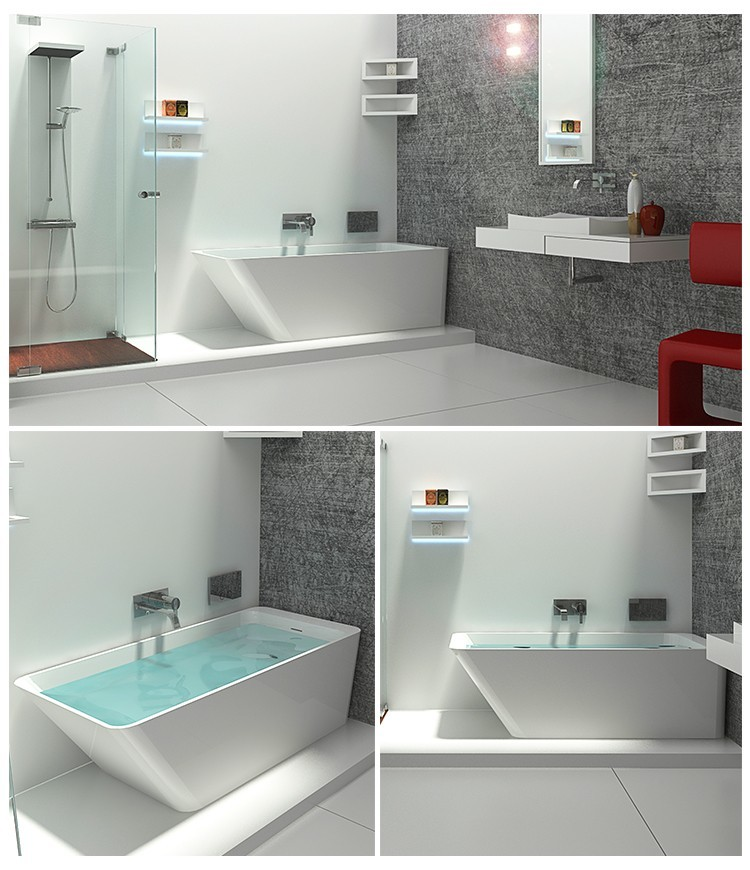 Wholesale acrylic bs8635 solid surface bathtub Bellissimo Brand