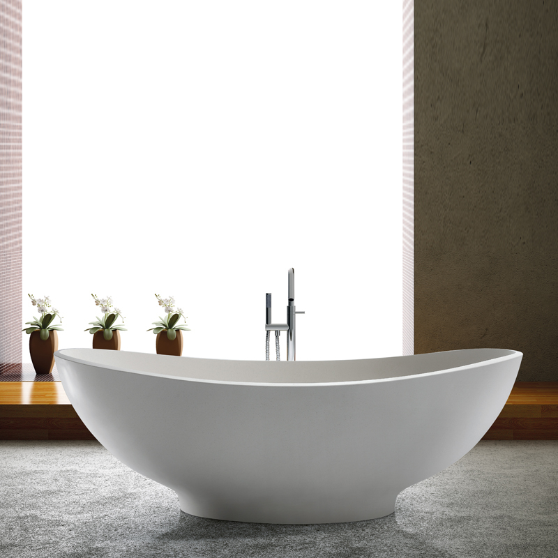 Solid surface resin stone bathtub BS-8637