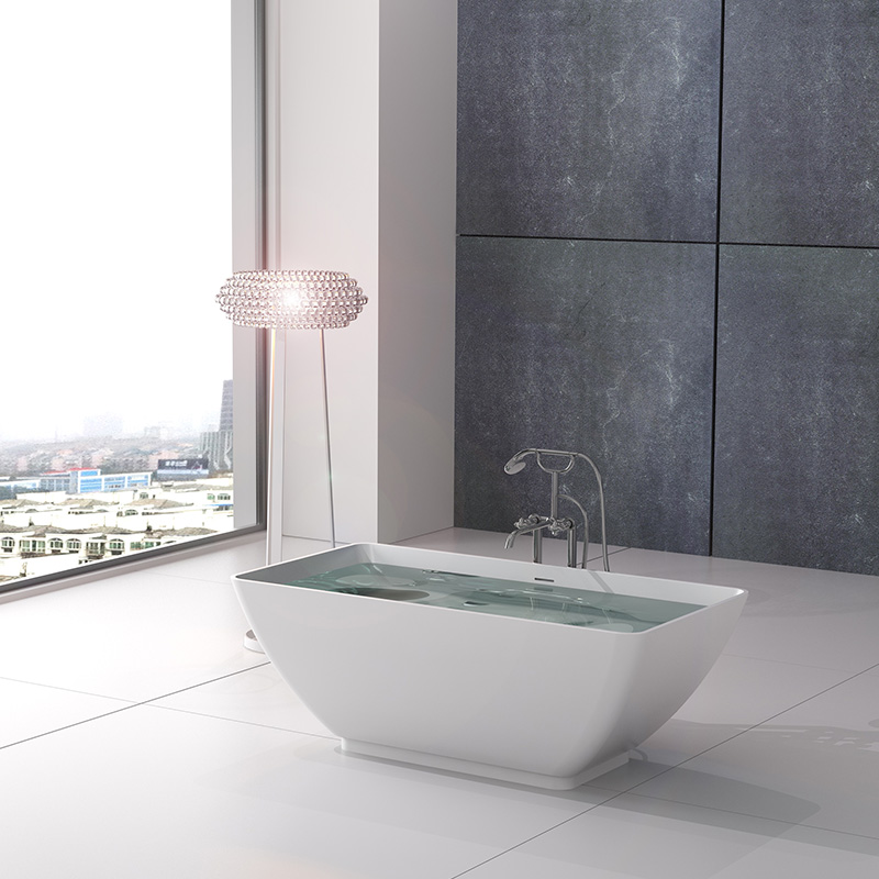 Bellissimo-Solid Surface Tub, Solid Surface Resin Stone Bathtub Bs-8638