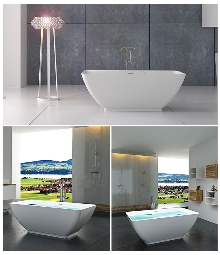 Wholesale bs8608 solid surface bathtub Bellissimo Brand