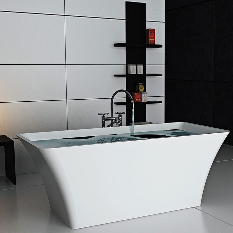 Solid surface resin stone bathtub BS-8639