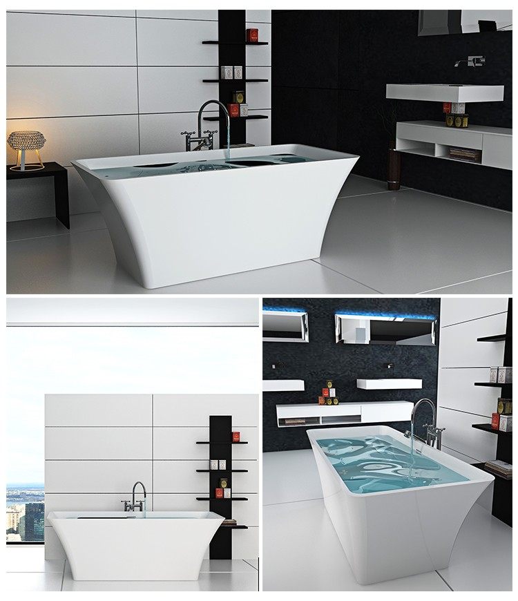 Bellissimo-Manufacturer Of Solid Surface Resin Stone Bathtub Bs-8639-2