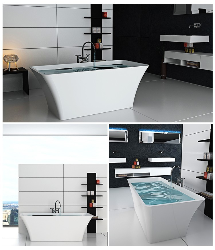 shape style Bellissimo Brand solid surface bathtub
