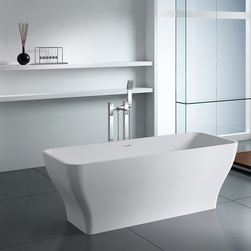 Solid surface resin stone bathtub BS-8640