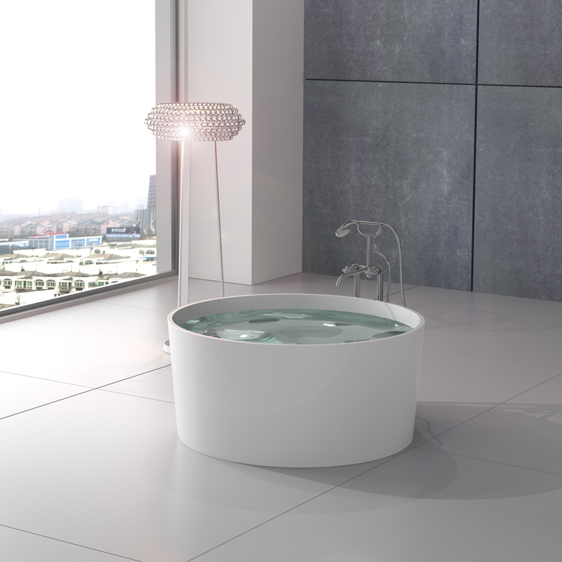 Solid surface resin stone bathtub BS-8642