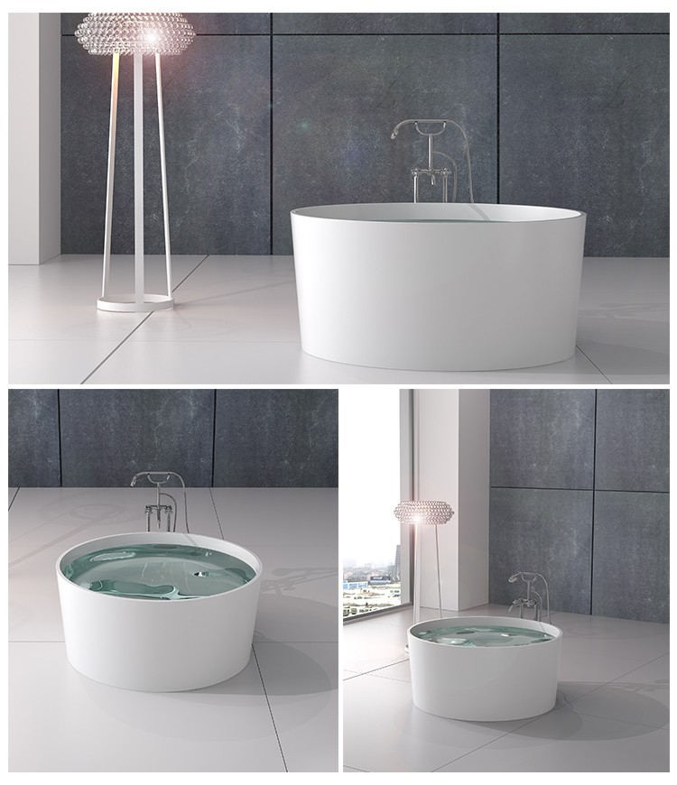 Bellissimo-Solid Surface Resin Stone Bathtub Bs-8642 | Solid Surface Bathtub | Bellissimo-2
