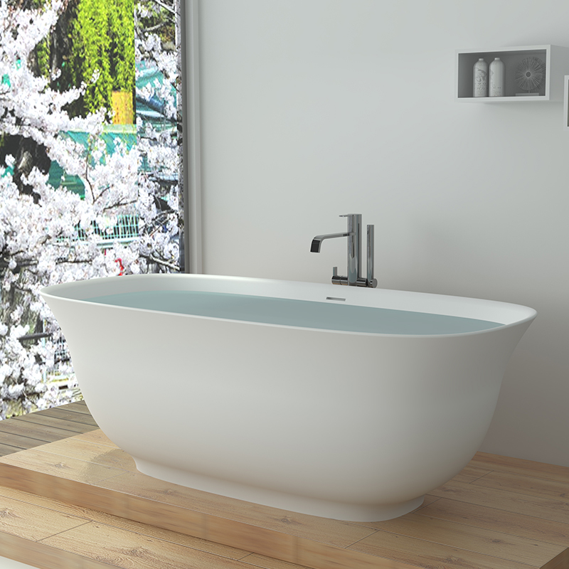 Solid surface resin bathtub BS-8643