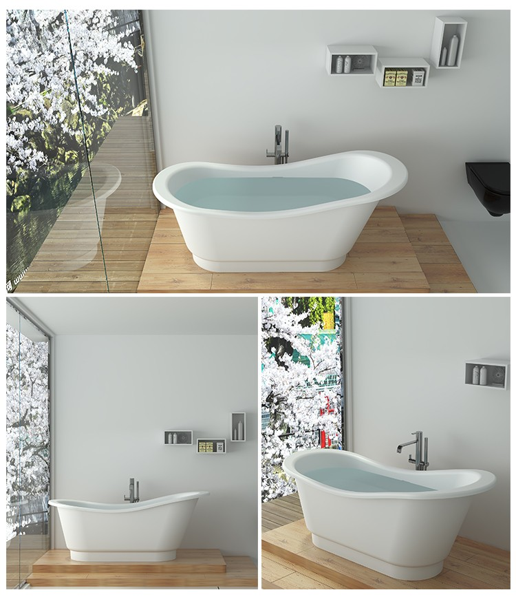 Bellissimo-Solid Surface Resin Stone Bathtub Bs-8645 - Bellissimo Company Limited-2