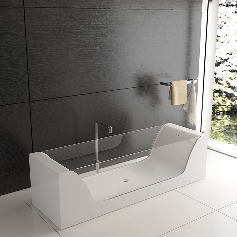 Solid surface resin stone bathtub BS-8647
