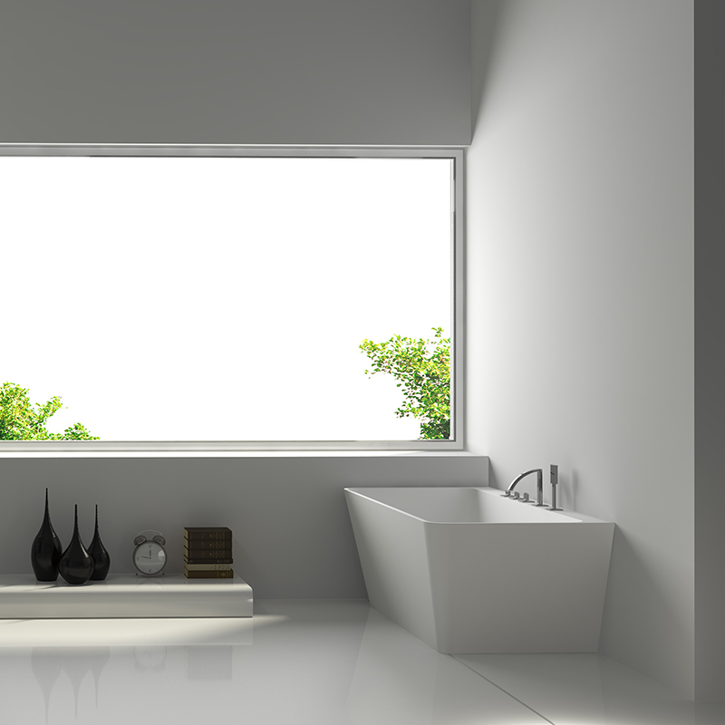 Solid surface resin stone bathtub BS-8648
