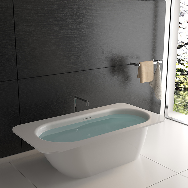 Solid surface resin stone bathtub BS-8649