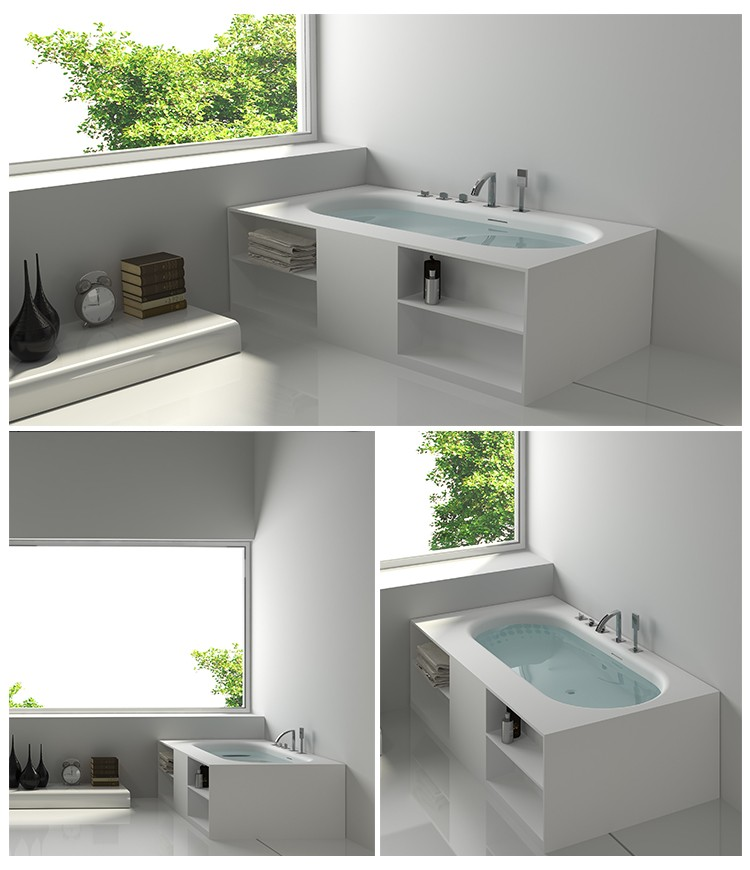Bellissimo-Best Solid Surface Resin Stone Bathtub Bs-8650 Manufacture-2