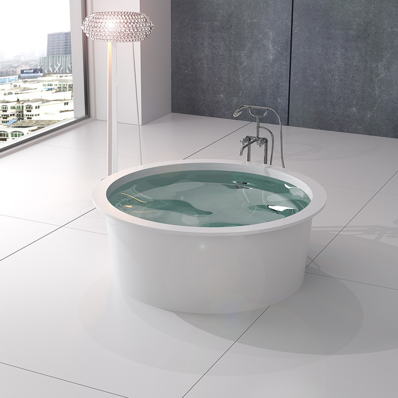 Solid surface resin stone bathtub BS=8651