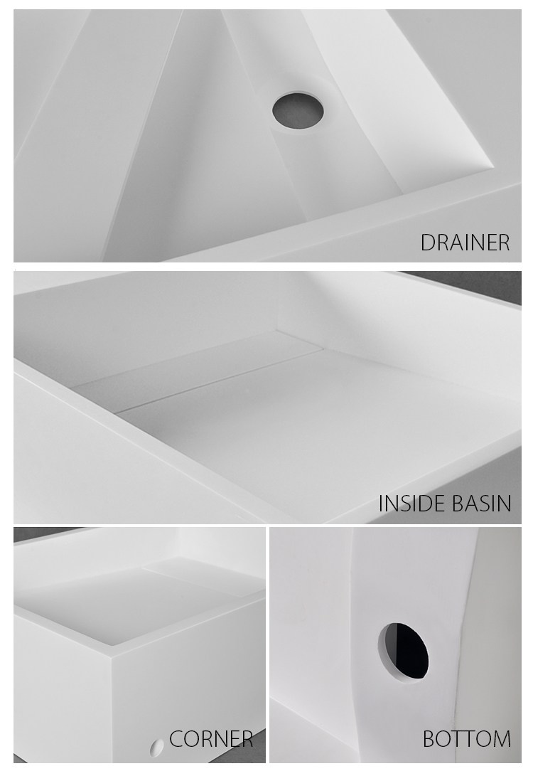 Bellissimo-Solid Surface Resin Stone Wall Mounted Basin Bs-8413-2