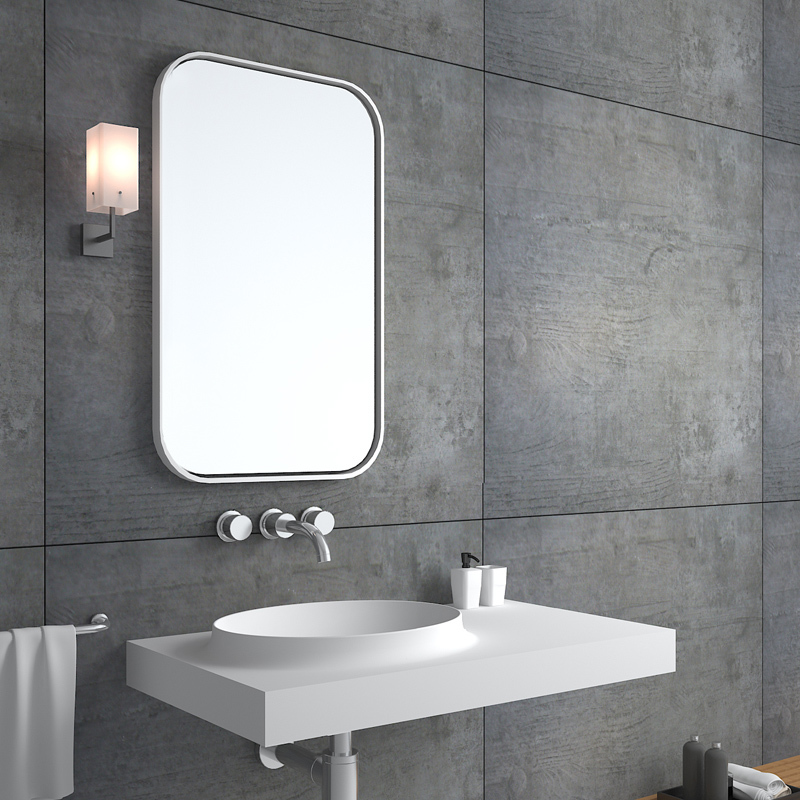 Solid surface resin stone wall mounted basin BS--8418