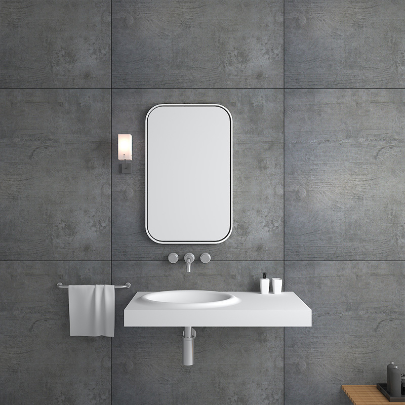 Solid surface resin stone wall mounted basin BS-8419