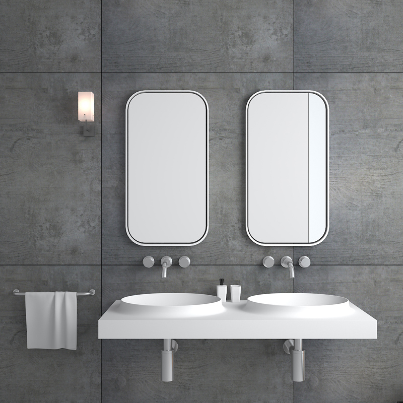 Solid surface resin stone  wall mounted basin BS-8420