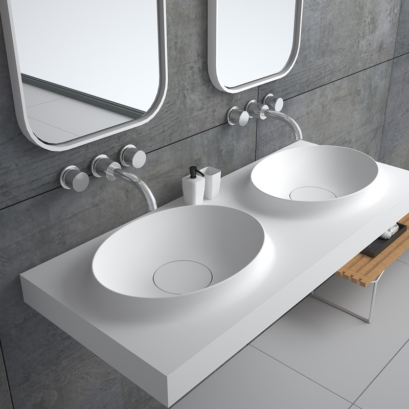 Bellissimo-Wall Mounted Wash Sink Rectangular Wall Mounted Basin