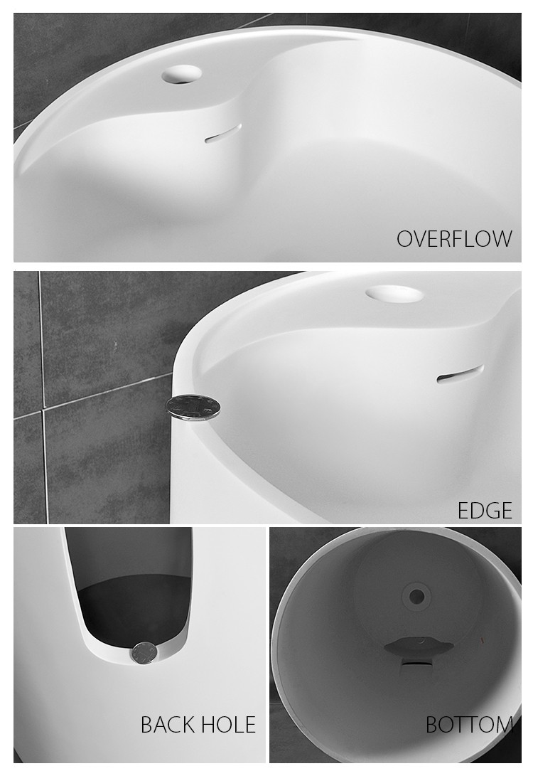 Bellissimo-Solid Surface Resin Stone Freestanding Basin Bs-8505 Manufacture