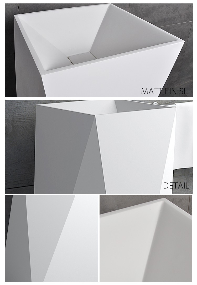 Bellissimo-Solid Surface Resin Stone Freestanding Basin Bs-8511 | Solid Surface
