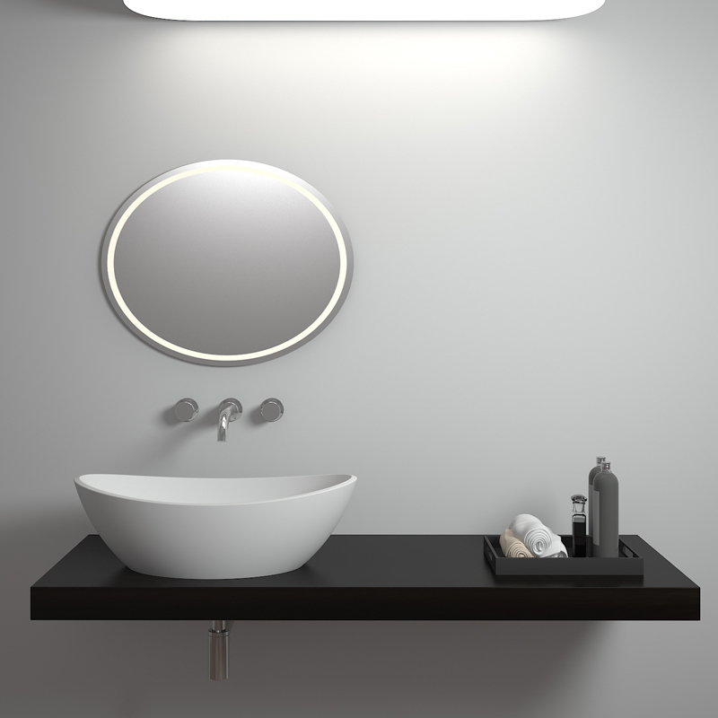 Solid surface resin stone counter top basin BS-8306
