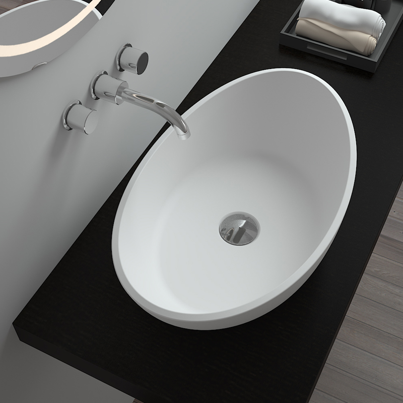 Bellissimo-Solid Surface Resin Stone Counter Top Basin Bs-8306 Supplier
