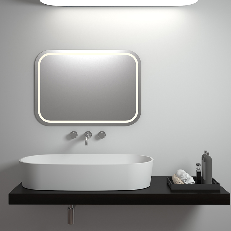 Solid surface resin stone counter top basin BS-8307