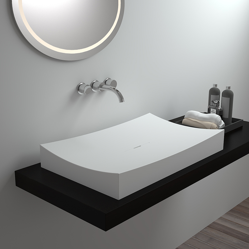 Solid surface resin stone counter top basin BS-8309