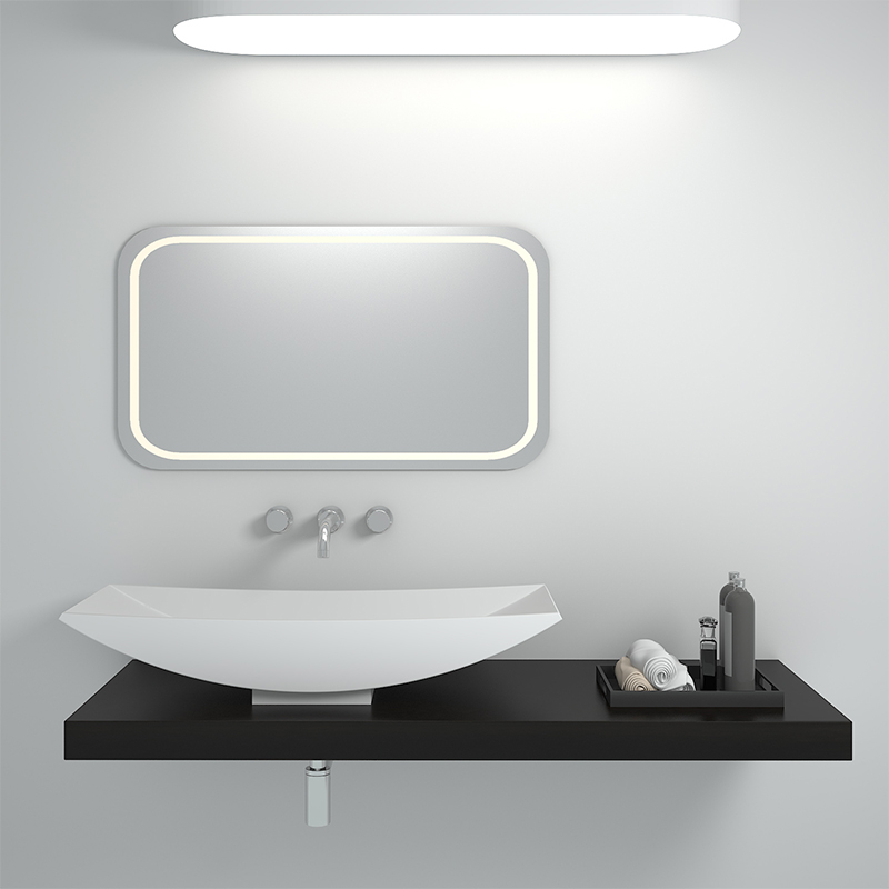 Solid surface resin stone counter top basin BS-8310