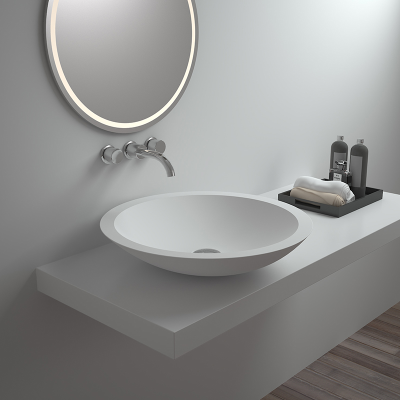 Solid surface resin stone counter top basin BS-8313