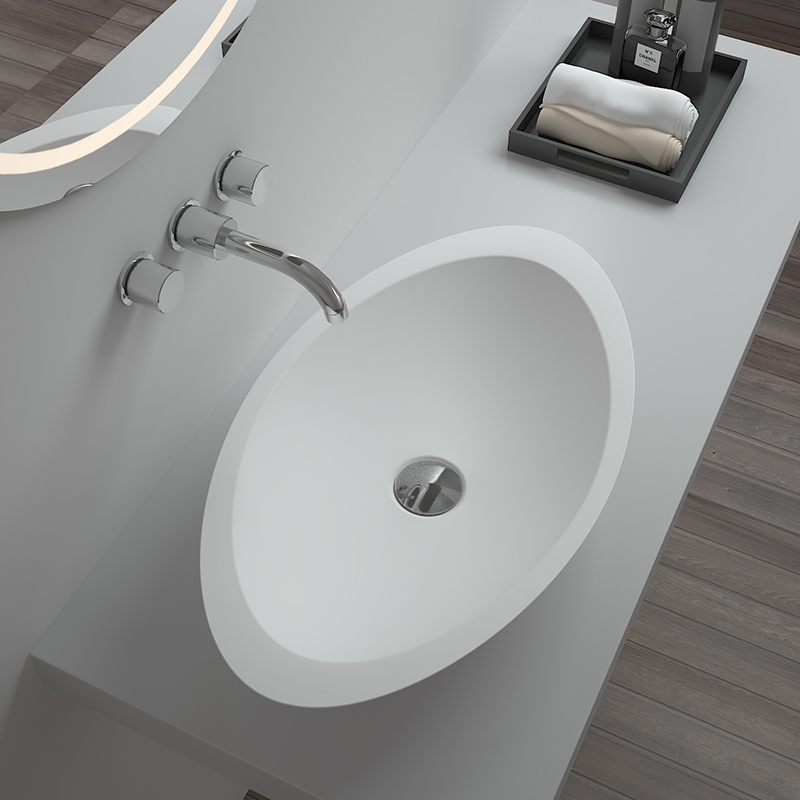 Bellissimo-Solid Surface Resin Stone Counter Top Basin Bs-8314 | Countertop
