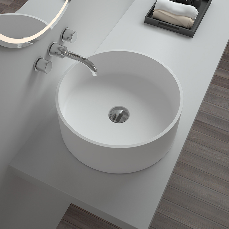 Solid surface resin stone counter top basin BS-8315