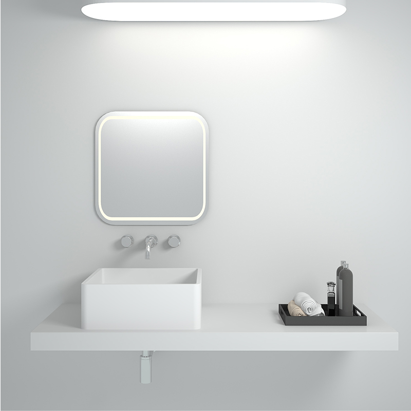Solid surface resin stone counter top basin BS-8316