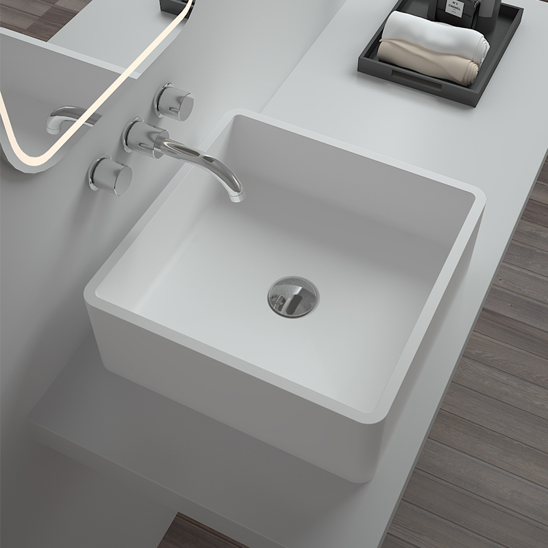 Bellissimo-Solid Surface Resin Stone Counter Top Basin Bs-8316 | Wash Basin