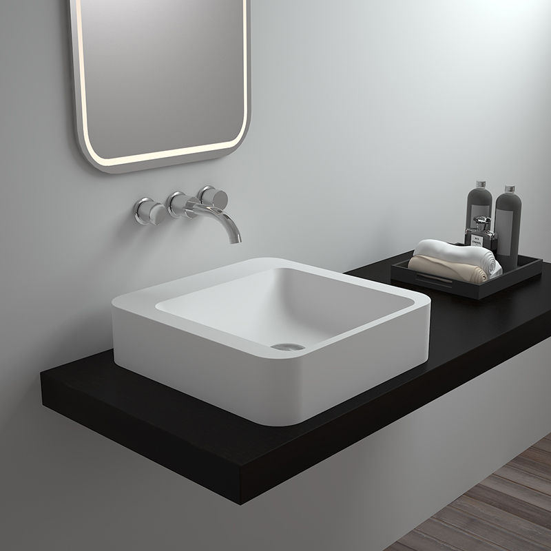 Solid surface resin stone counter top basin BS-8318