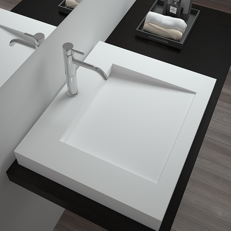 Solid surface resin stone counter top basin BS-8320