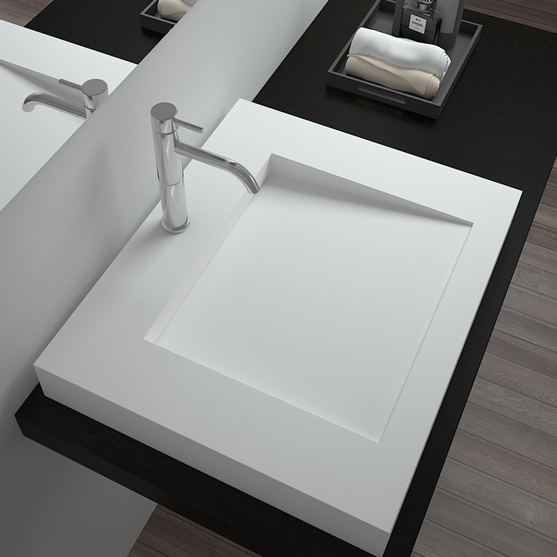 Bellissimo-Solid Surface Resin Stone Counter Top Basin Bs-8320 Factory