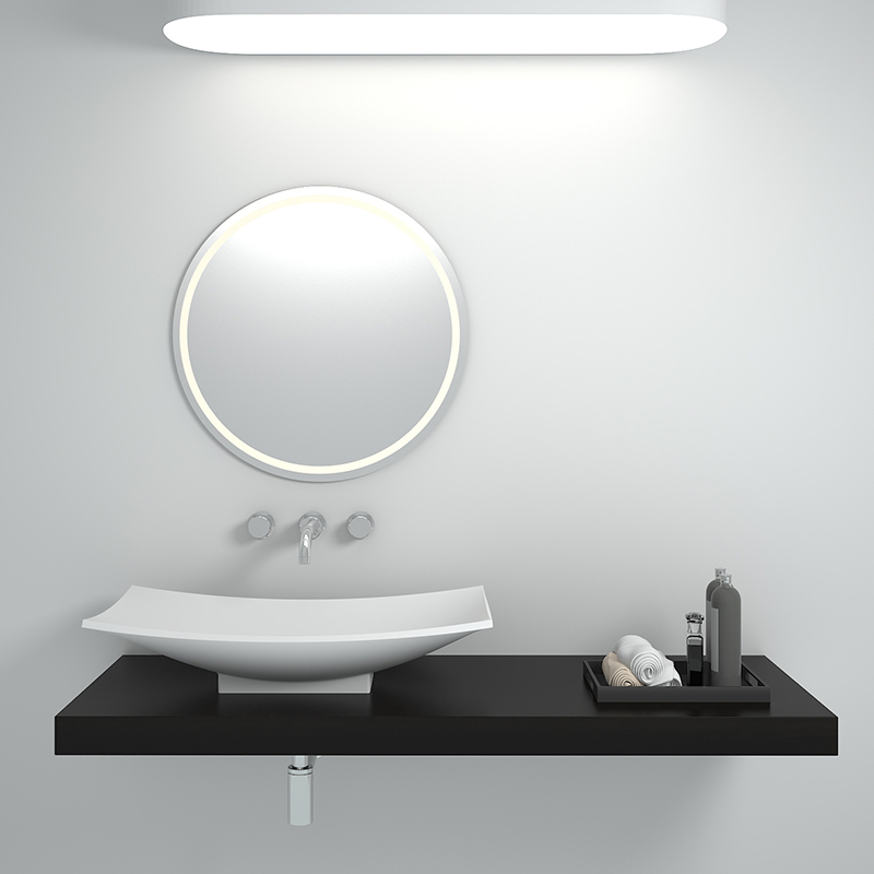 Solid surface resin stone counter top basin BS-8321