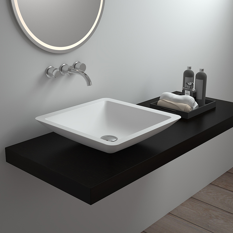 Solid surface resin stone counter top basin BS-8323