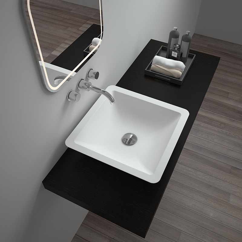 Bellissimo-Solid Surface Resin Stone Counter Top Basin | Counter Top Basin