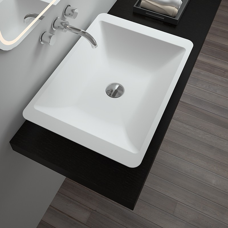 Bellissimo-Solid Surface Resin Stone Counter Top Basin Bs-8324 | Basin