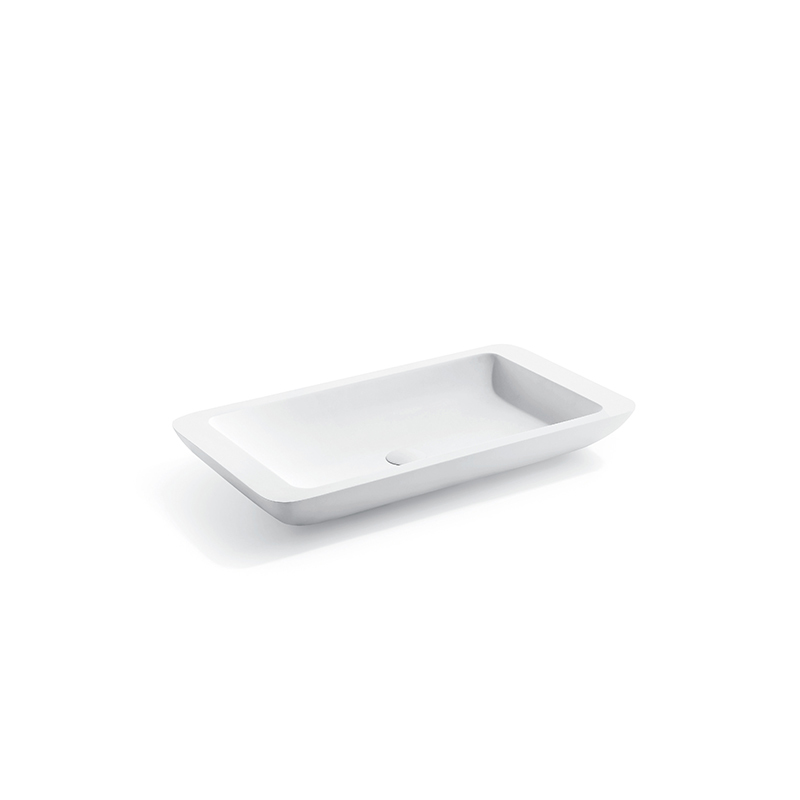 Solid surface resin stone counter top basin BS-8325